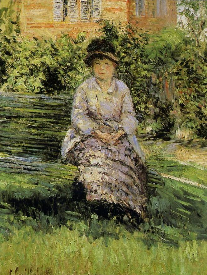 """Gustave CAILLEBOTTE  - """"Madame Renoir dans le jardin du Petit-Gennevilliers"""" - Peint en 1891: collection privée"""