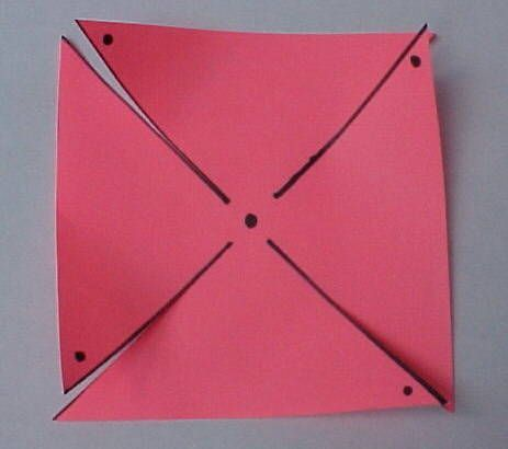 Instructions on how to make a pin wheel.