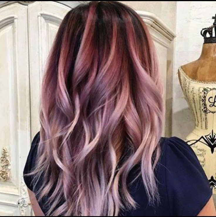 Hair hairstyle balyage autumn fall winter style curls purple blonde brunette highlights colour