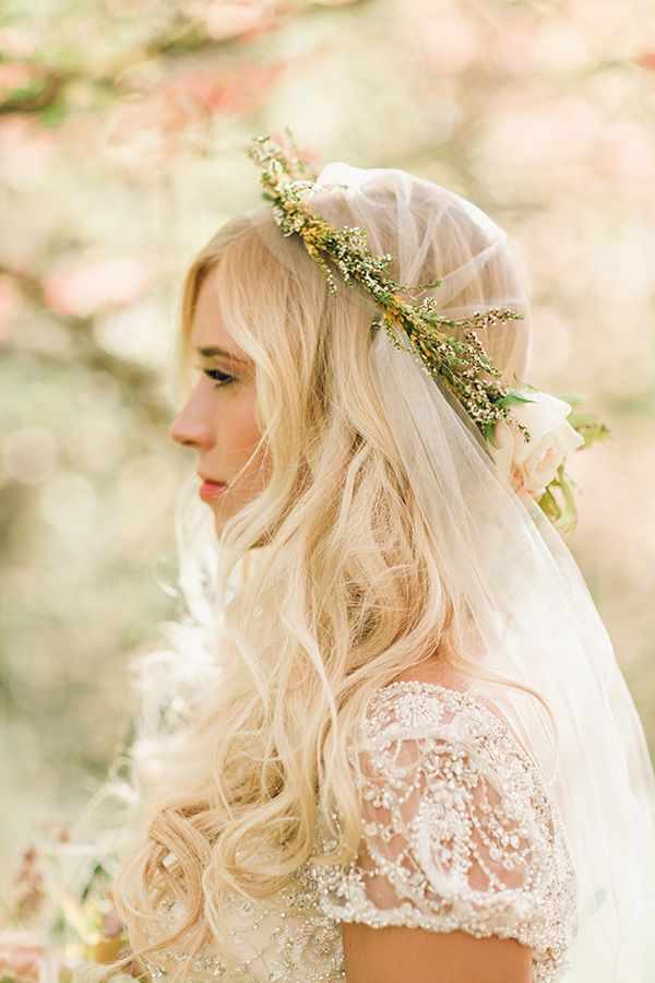 Blush And Rose Gold Woodland Wedding Shoot Woodland