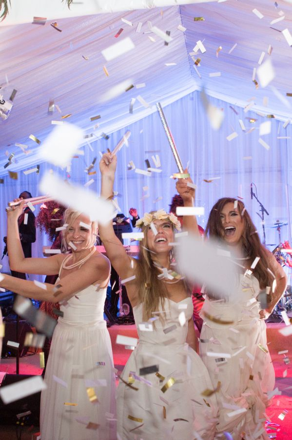 Bride Dance Floor Confetti Http Itweddings Gorgeous