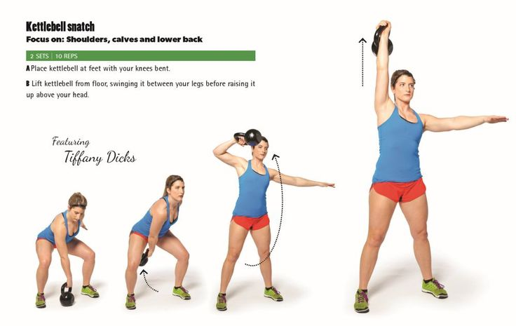 Kettlebell snatch | Part of a 20-minute routine with 15-sec  AMRAP 15-sec rest kettlebell exercises: including one- and two-handed swings, snatches, cleans, presses, lunges and Turkish get-ups.