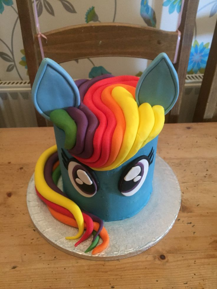 Rainbow Dash Birthday Cake in 2019 | Birthday cake ...