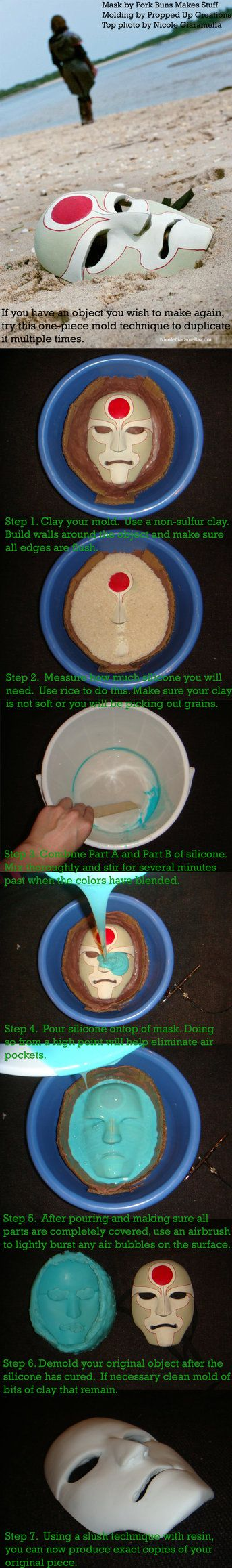 One-part Silicone Mold Making Tutorial by proppedupcreations on deviantART