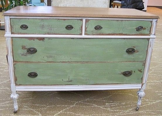chalk painted furniture ideas   Dresser painted with Annie Sloan Chalk Paint, by Miss Mustard Seed