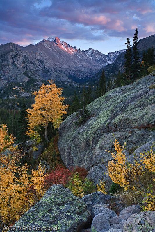 Longs Peak from Bear Lake, Rocky Mountain National Park; photo by Erik Stensland