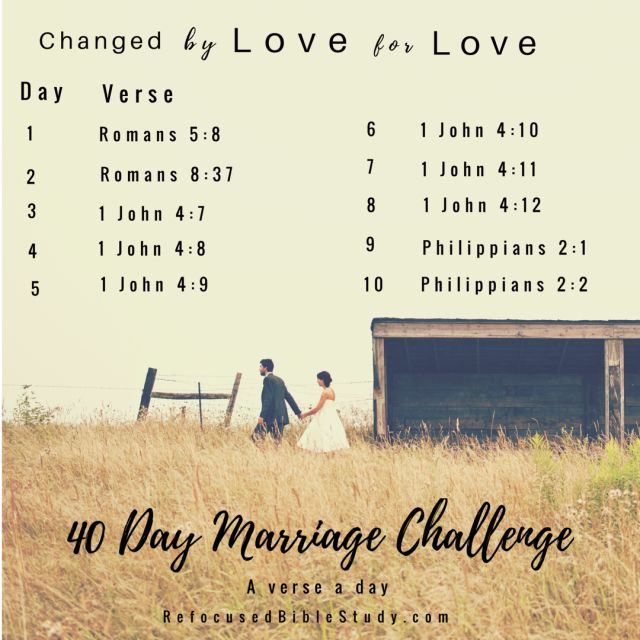 40 Day Scripture Reading Marriage Challenge #onlinebiblestudy #Marriage