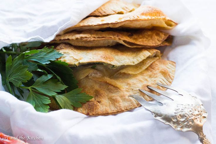 Baked Chebureki...Easy Russian Turnovers (with Meat)
