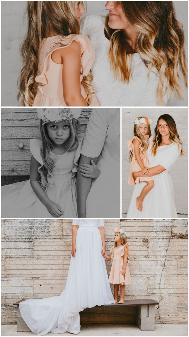 Instagram = @remie.girl Blush flower girl dress Pinafores Flutter sleeve Blush bride Pink flower girl Pink dress peach wedding Pastel wedding