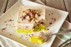 Moelleux à la pistache et sa mousse poires chocolat