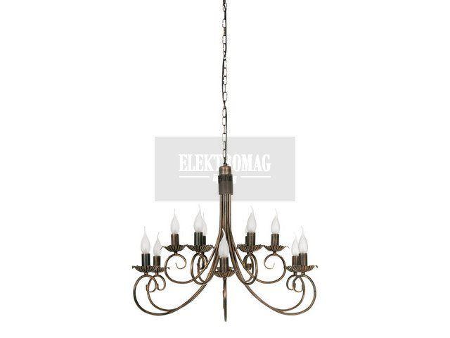 Nowodvorski Lampa wisząca Płomyk XII zwis 492 : Lampy wiszące metalowe : Sklep internetowy Elektromag (#cottage #lamp)