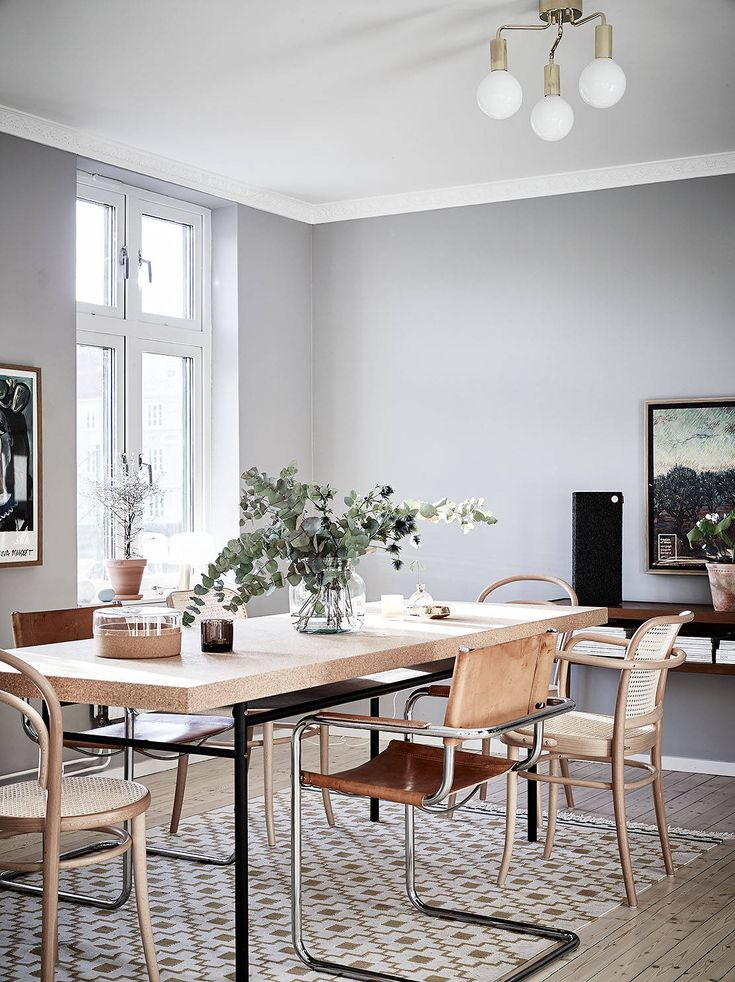 I like the warm details of the wooden and leather furniture and accessories against the cool grey walls. The cork dining table with a mix of chairs in leather and wood really is the centrepiece of this home and I … Continue reading →