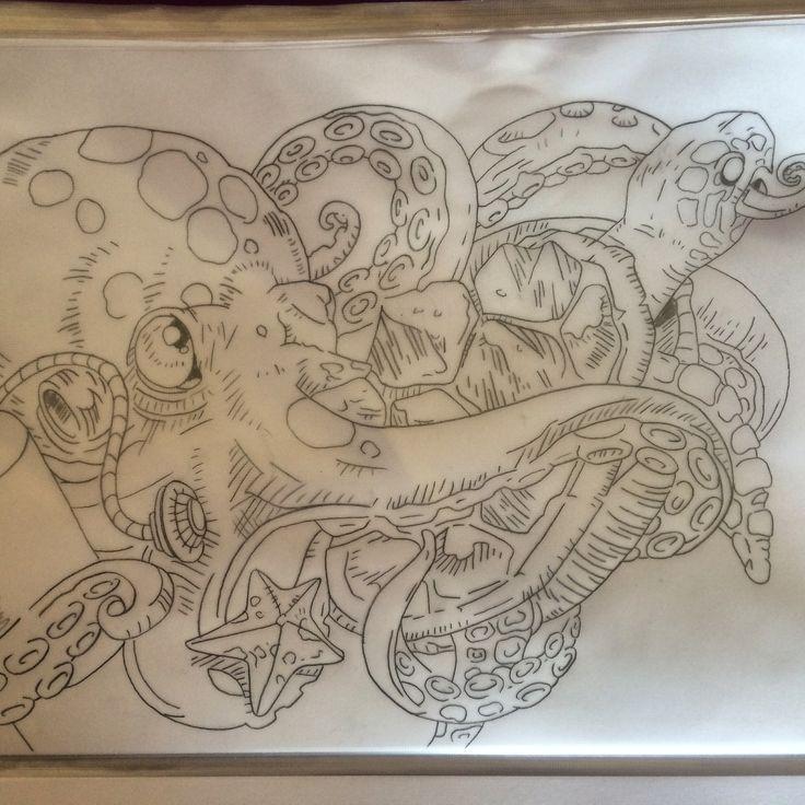 Kraken tattoo design | Fhhgg | Pinterest
