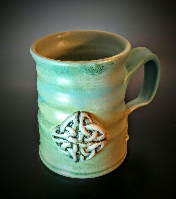 Celtic Pottery Mug www. facebook.com/patsy.oconnell.pottery
