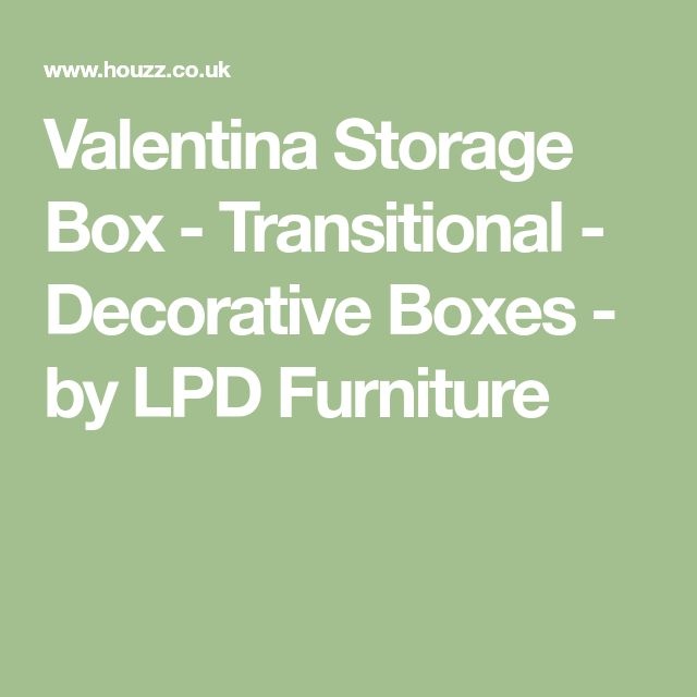 Valentina Storage Box - Transitional - Decorative Boxes - by LPD Furniture