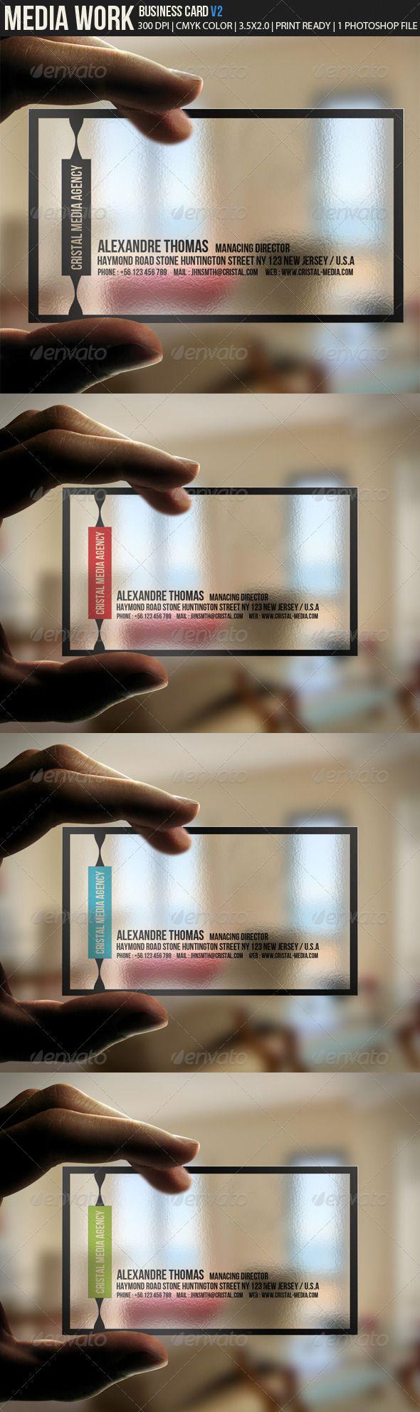 Media Work V2 Business cards http://www.bce-online.com/en repinned by www.BlickeDeeler.de