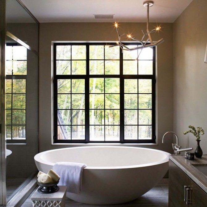 "196 Likes, 3 Comments - ACS Designer Bathrooms (@acsbathrooms) on Instagram: ""• Round Bathtub perfection• inspiration via Pinterest ✨"""