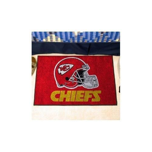 19 X 30 NFL Chiefs Door Mat Printed Logo Football Themed Sports Patterned Bathroom Kitchen Outdoor Carpet Area Rug Gift Fan Merchandise Vehicle Team Spirit Red Gold Nylon
