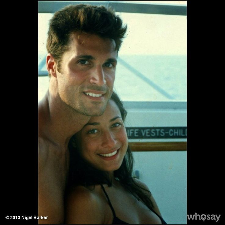 """Nigel Barker's, photo,""""Crissy and me in 1997 on her father's boat vacationing …"""""""
