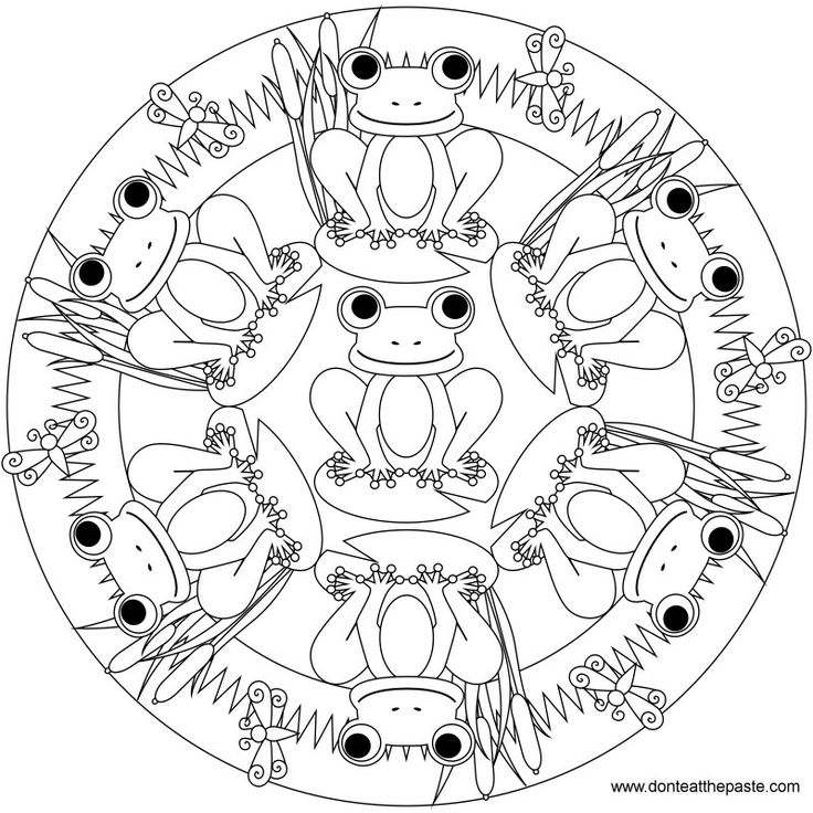 Frog mandala to color