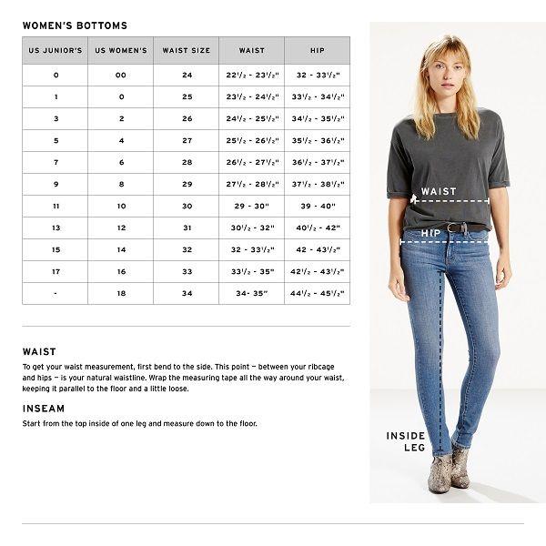 Levi S Jeans Jeans Jeans Size Chart