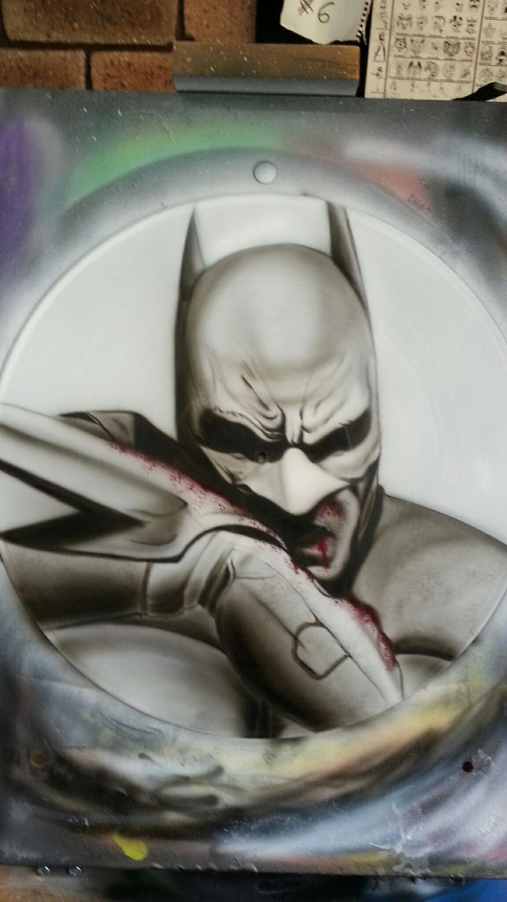 Batman Airbrushed Vinyl Record
