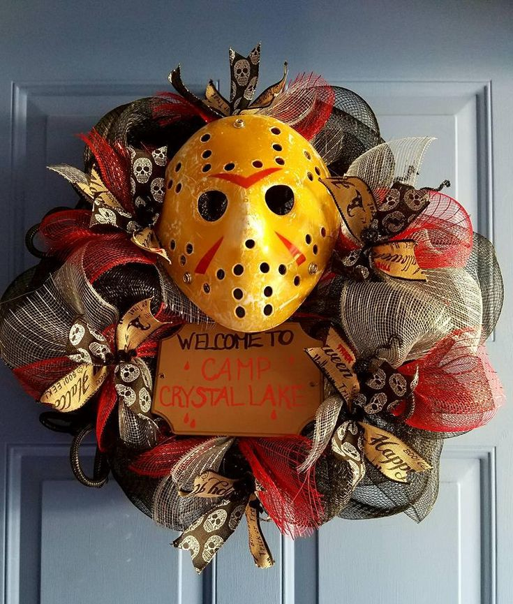 Friday the 13th Halloween Wreath in 2020 Halloween
