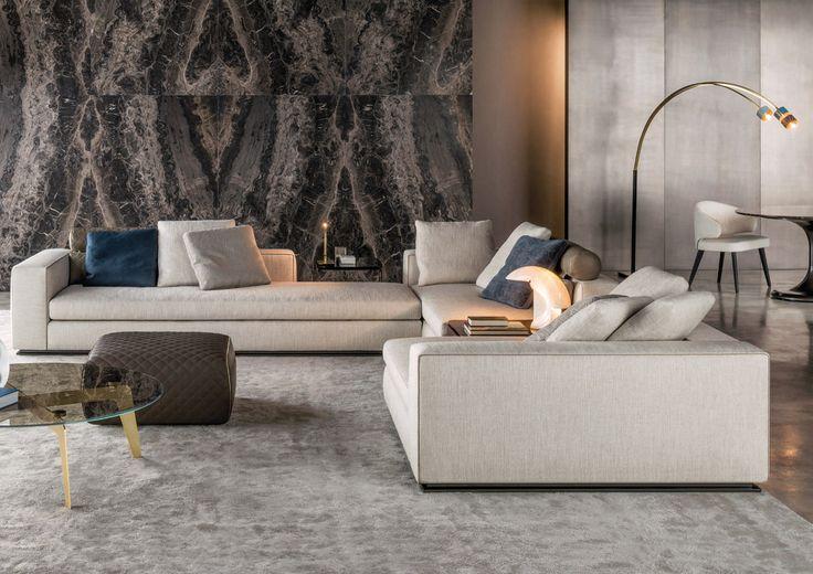 Sofá modular moderno de Rodolfo Dordoni - LEONARD - Minotti