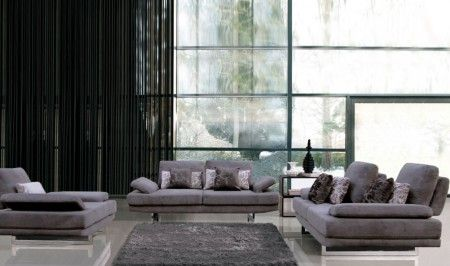 This #grey #sofa set will surely add a #modern outlook to your #livingroom