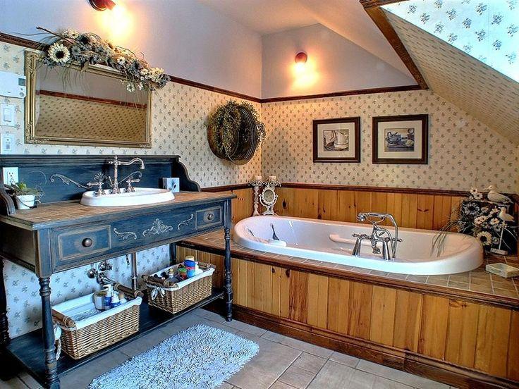 Salle de bain champêtre, Vanité champêtre, design d'intérieur, Le jardin d'Andrée-Anne, www.lejardin.ca