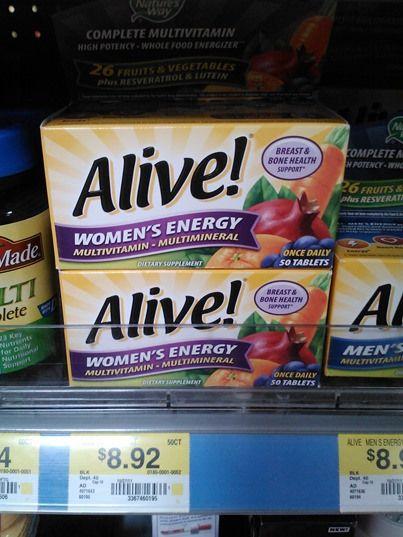 Alive Vitamins just $6.92 at Walmart!