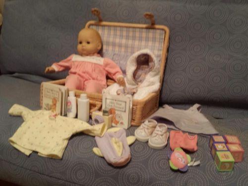 Rare, vintage American Girl Bitty Baby Set w/ Wicker ...