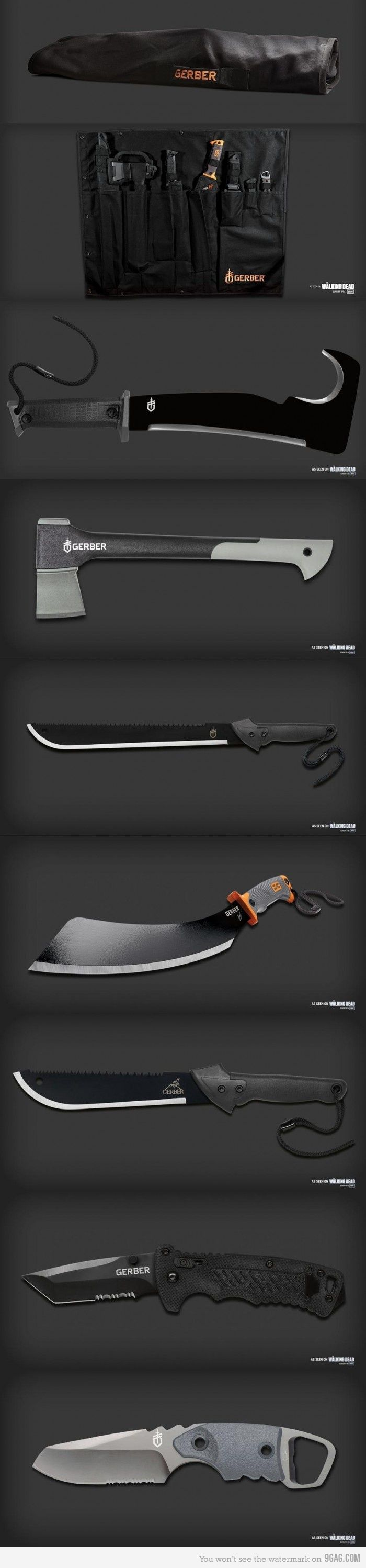 Cool Stuff We Like Here @ CoolPile.com ------- << Original Comment >> ------- Knives and axes Basic Gear