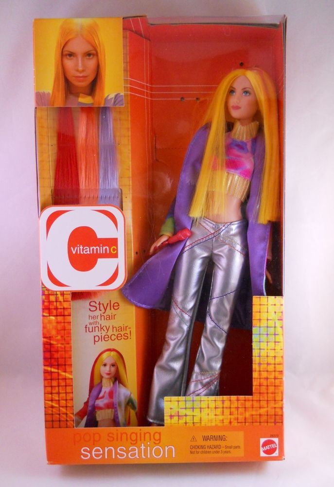 Barbie Doll Vitamin C Yellow Hair Extensions Singer