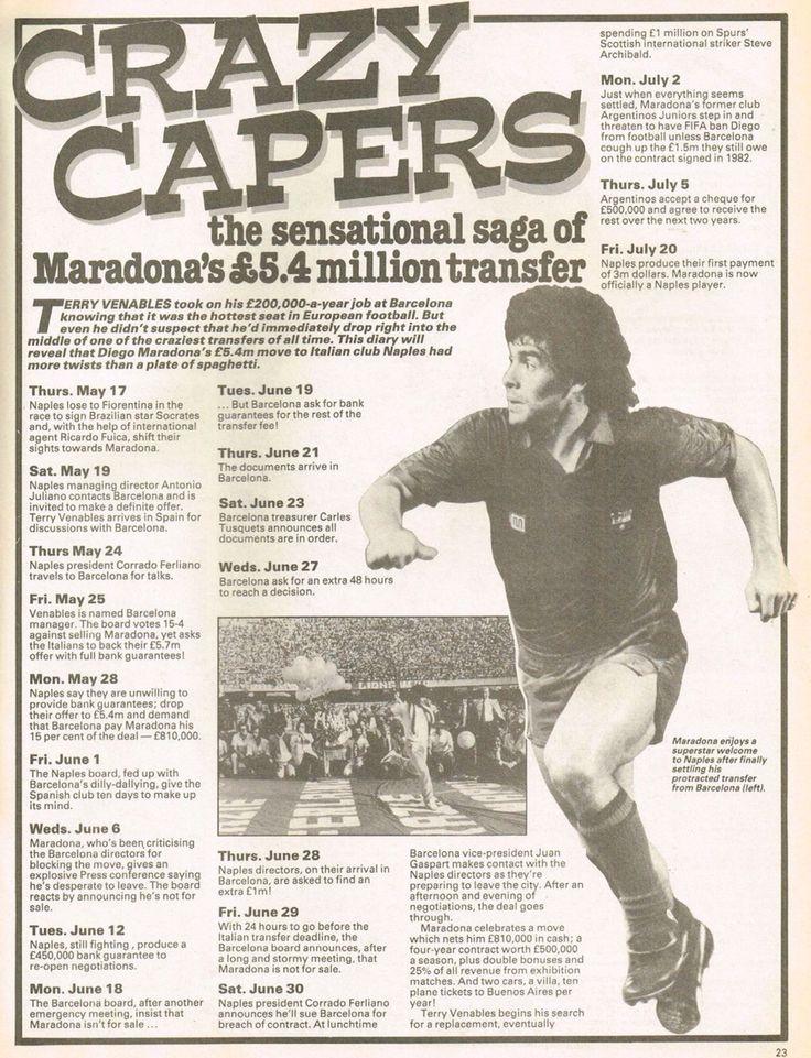 La historia del pase de #Maradona al Nápoles