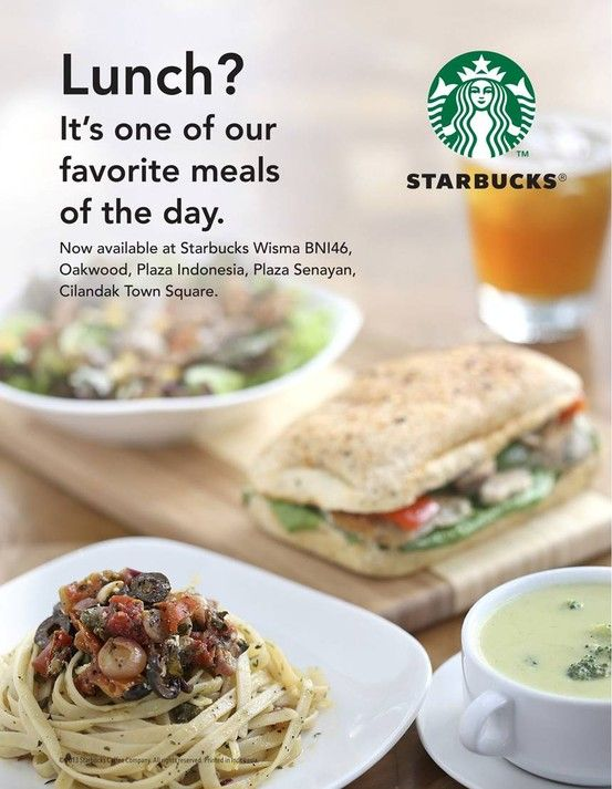 Lunch hours will never be the same again, introducing our Lunch Menu at Starbucks!