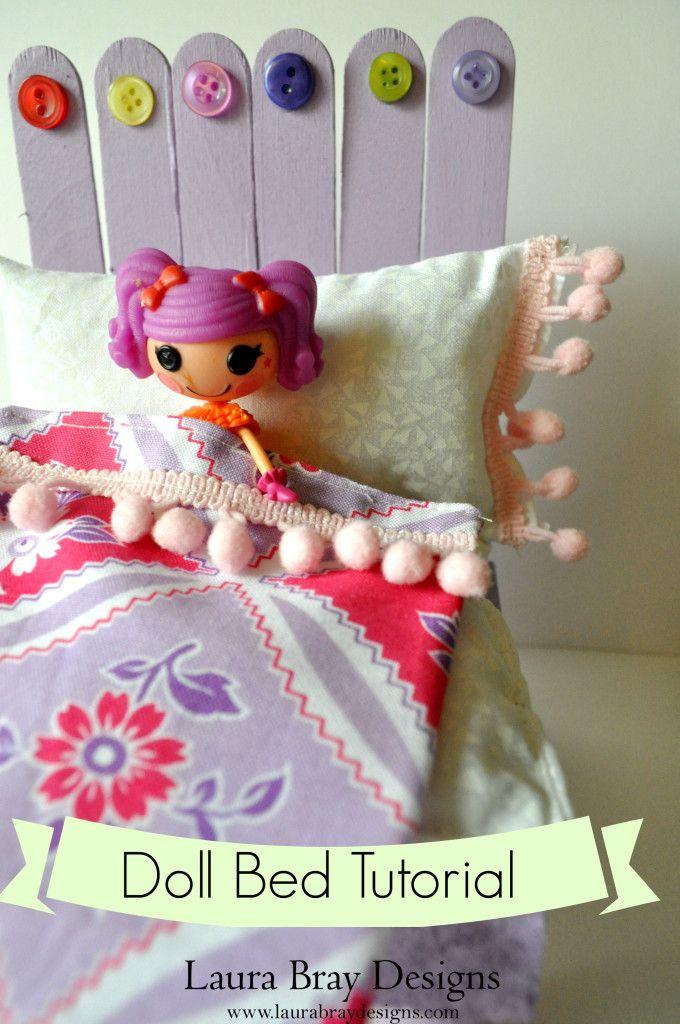 DIY Doll Bed With Sticky Sticks