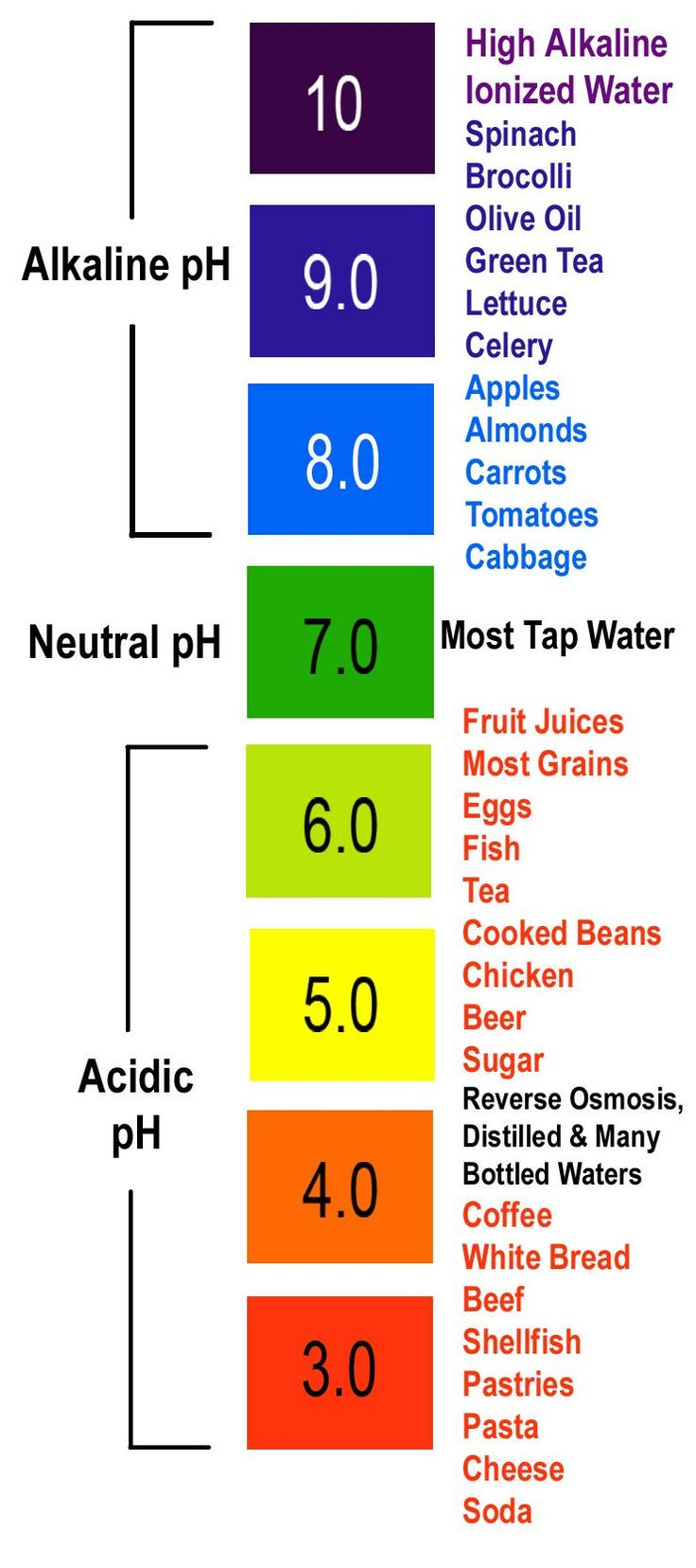 The 25 best ph chart ideas on pinterest ph food chart ph ph chart nvjuhfo Images