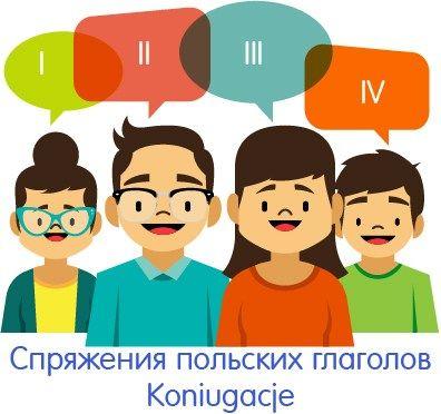 Cпряжение глаголов в польском языке: таблица настоящего времени