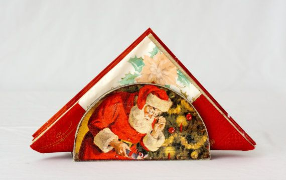 Santa Claus Napkin Holder Rustic Tabletop accessory от BeauMiracle, $17.00