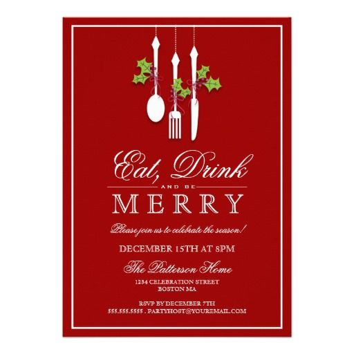 42 best images about Christmas Party Invitations – Custom Holiday Party Invitations