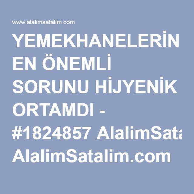YEMEKHANELERİN EN ÖNEMLİ SORUNU HİJYENİK ORTAMDI - #1824857 AlalimSatalim.com