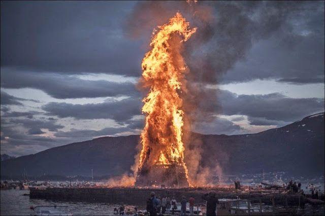Melihat api unggun terbesar di dunia di Norwegia !   wisbenbae