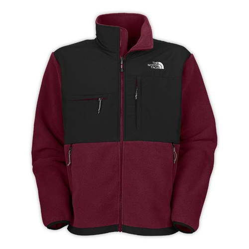 North Face Men's Denali Fleece Dark Black / Red Jackets,$150