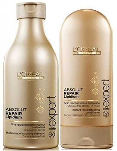 LOREAL PROFESSIONNEL Serie Expert Absolut Repair Shampoo 250ml and Conditioner 150ml Duo Pack -- Click image for more details. #ShampooandConditionerSets