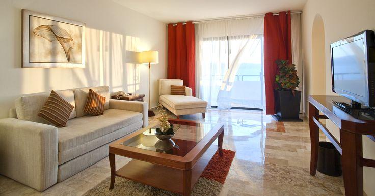 One of the Ocean View Suites at the Melia Puerto Vallarta.