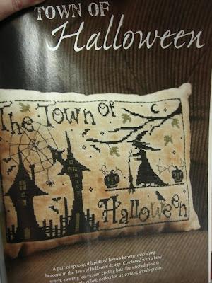 "Halloween cross stitch  ""Town of Halloween ""Town of Halloween"" from the Just Cross Stitch 2012 Special Collector's Issue HALLOWEEN"