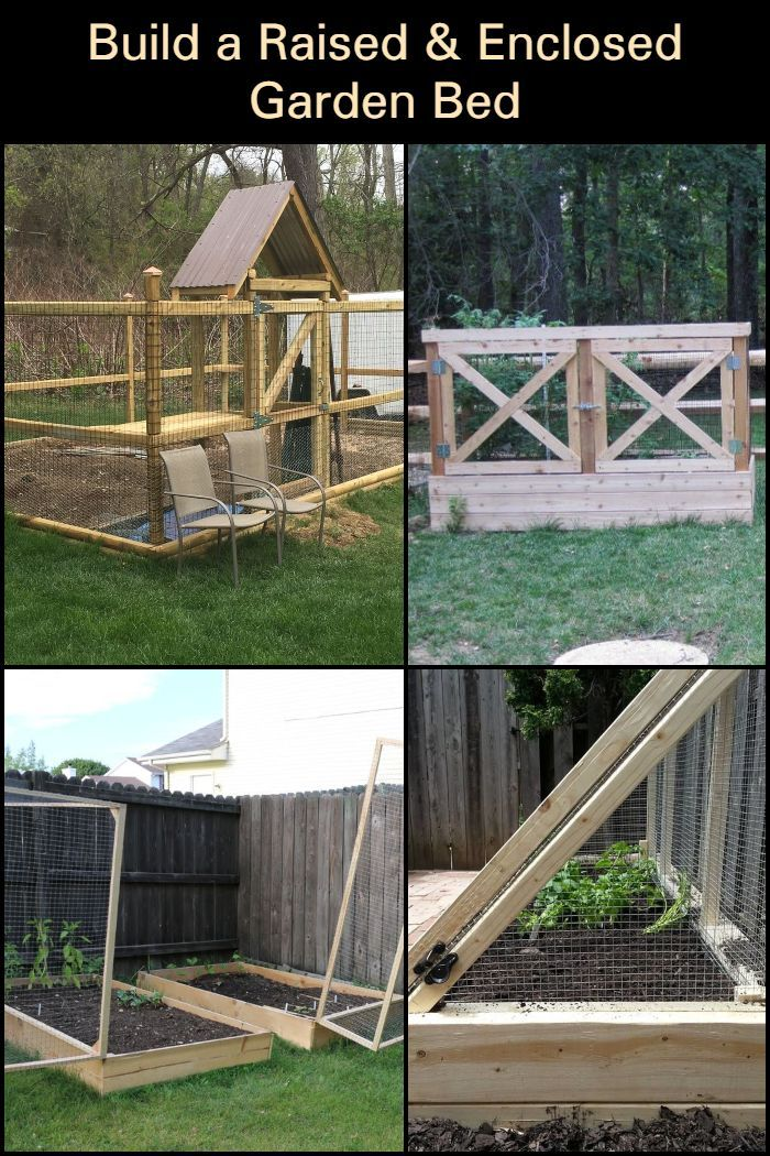 Diy Raised And Enclosed Garden Bed Garden Beds Raised Garden
