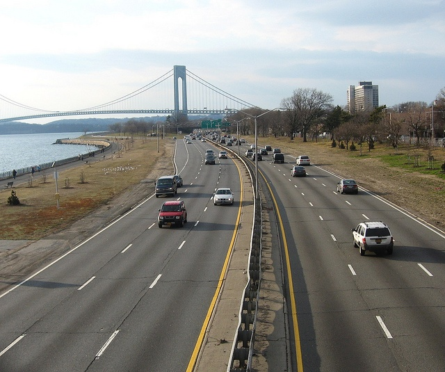 Belt Parkway, Brooklyn, NY. One of the worse roads EVER that is constantly under construction. (And I mean years)
