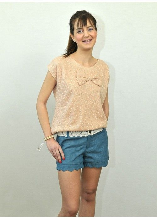 Pepaloves Pink Top with bow